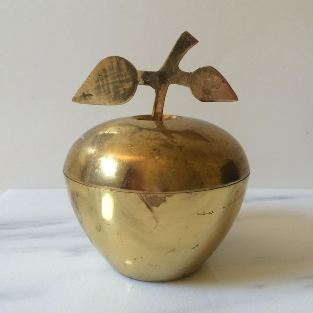 Brass Apple Lidded Container - Image 2 of 4