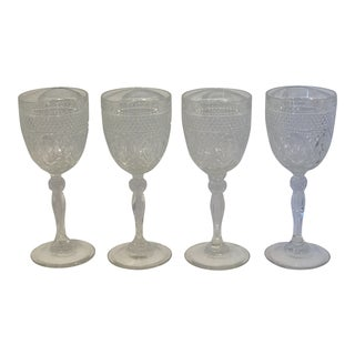 Vintage Cristal d' Arques Wine Goblets - Set of 4 For Sale