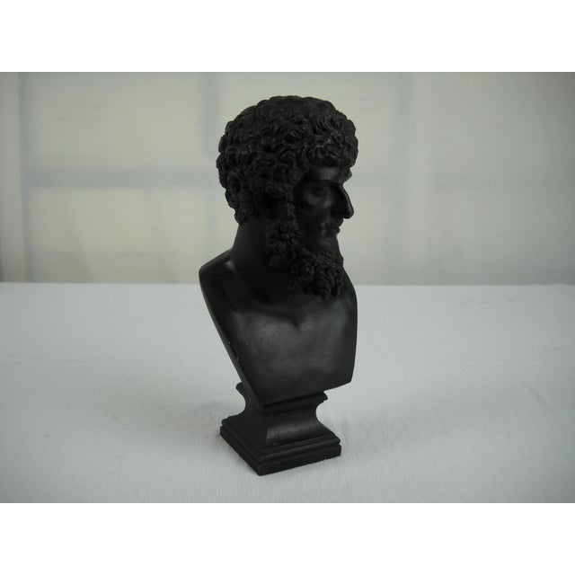 Classical Cast Metal Greek Bust - Image 6 of 8