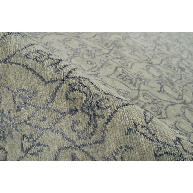 Contemporary Stark Studio Rugs Contemporary Oriental Wool and Silk Rug - 10' X 14' For Sale - Image 3 of 5