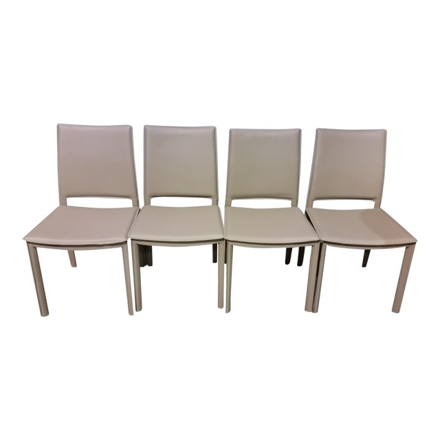 Gray Faux Leather Side Chairs - Set of 4 - Image 1 of 3