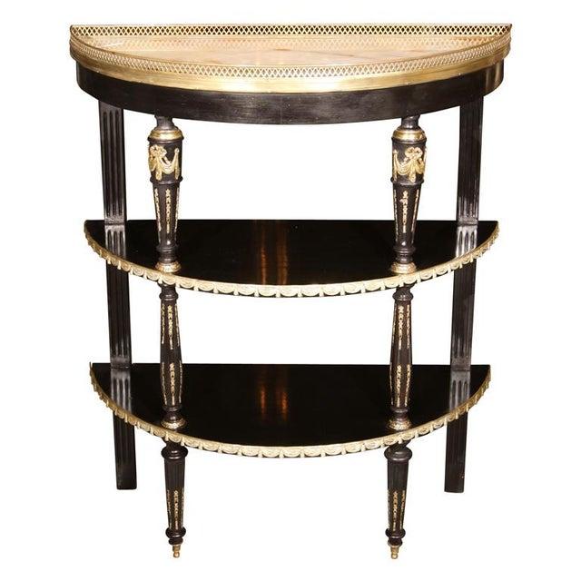 Black Russian Neoclassical Maison Jansen Demi Lune For Sale - Image 8 of 8