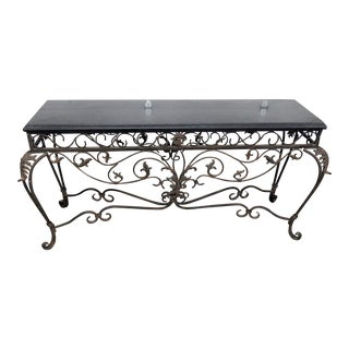 20th Century French Regency Style Marble Top Console Table For Sale