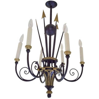 French Empire Style, Six Light Chandelier For Sale