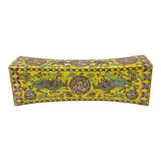 Antique Porcelain Chinese Money Pillow For Sale