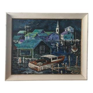 Original Coastal Village Painting