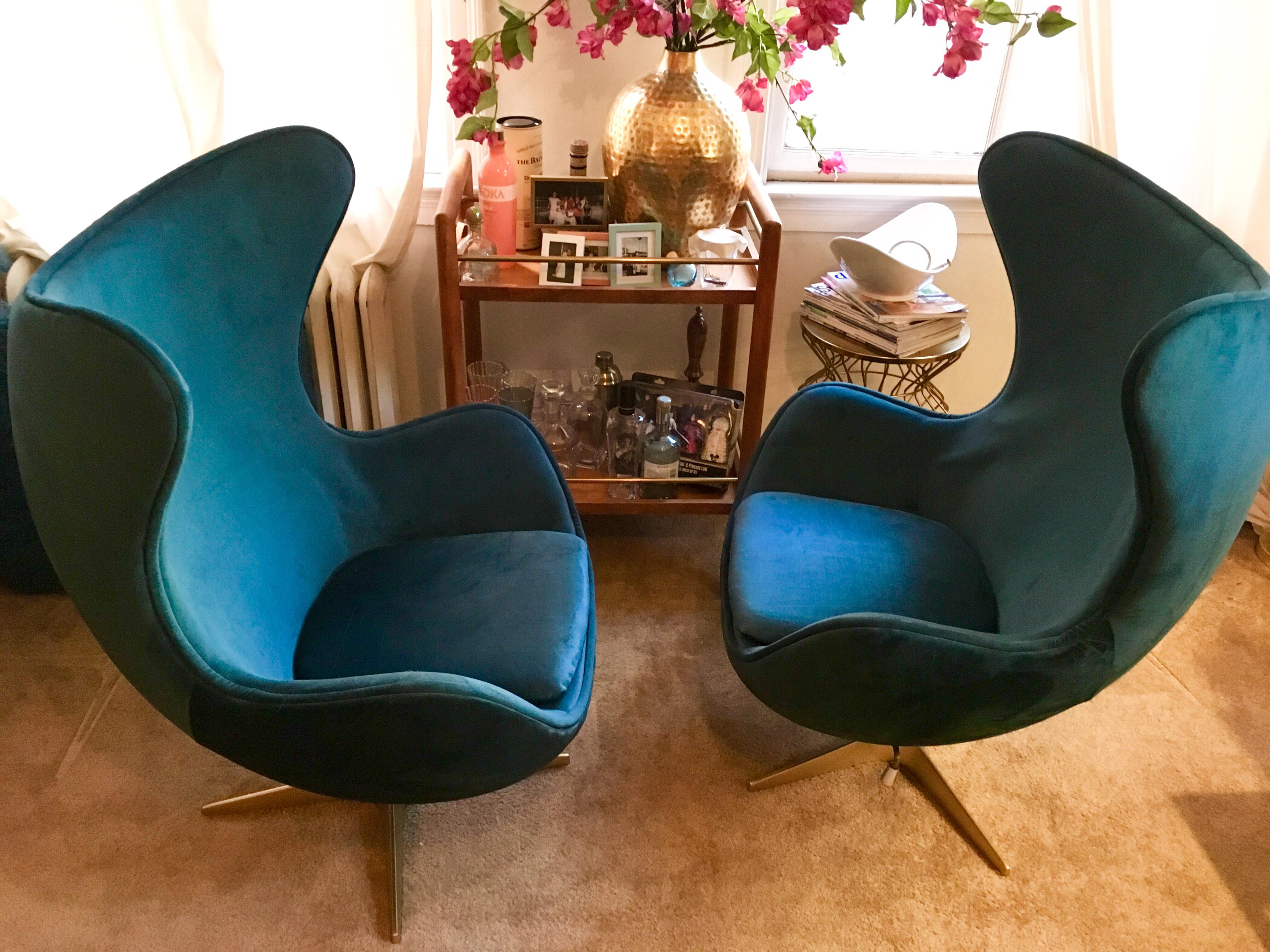 What Makes These Chairs So Special? The Beautiful, Rich Velvet Upholstery  Fabric And The