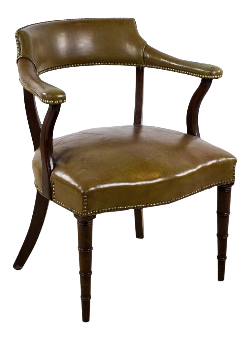 1950u0027s Vintage Hickory Chair Company Leather and Wood Office Chair | Chairish  sc 1 st  Chairish & 1950u0027s Vintage Hickory Chair Company Leather and Wood Office Chair ...