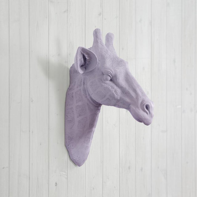 Wall Charmers Faux Lavender Purple Giraffe Head Wall Sculpture - Image 2 of 3