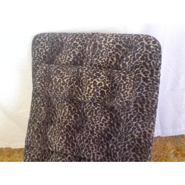 1980s Leopard Upholstered Wave/Chaise Lounge For Sale - Image 5 of 8