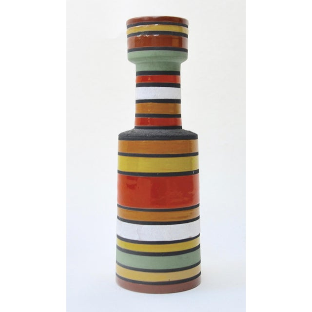 Mid Century Aldo Londi Stripe Vase For Sale In Los Angeles - Image 6 of 6