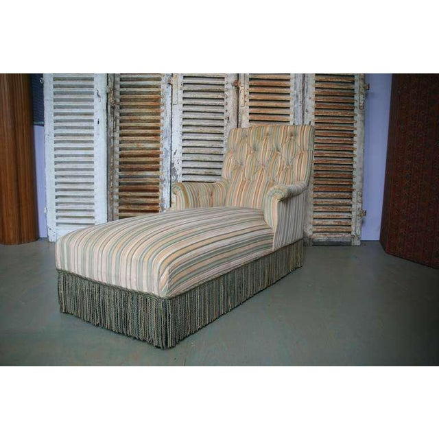 French 19th C. Napoleon III Chaise Lounge in Striped Fabric - Image 9 of 11