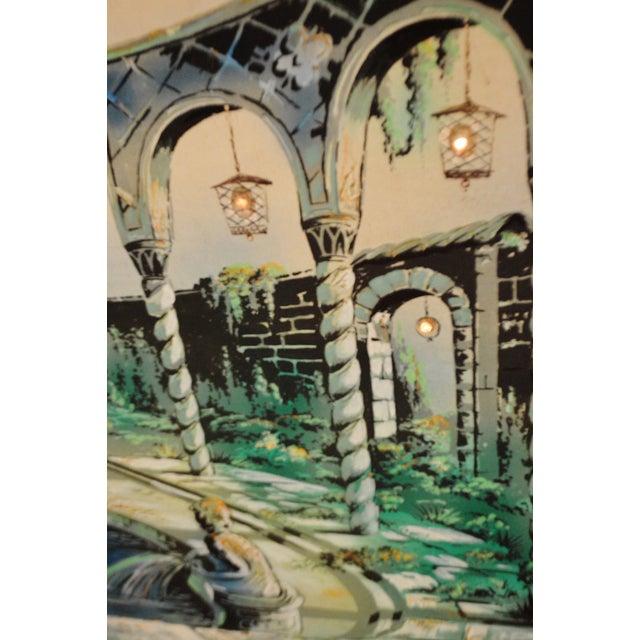 Vintage Signed Illuminated Giclee Painting on Panel - Image 8 of 9