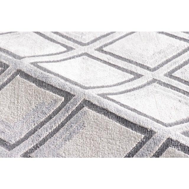 Stark Studio Rugs Stark Studio Rugs New Oriental Tibetan 80% Bamboo Silk / 20% Cotton Rug - 8′ × 10′ For Sale - Image 4 of 5