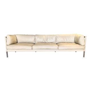 Matteograssi Modern Italian Leather Sofa For Sale