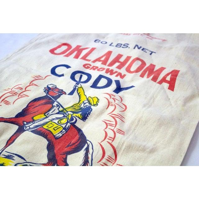 Mid 20th Century Vintage Oklahoma Alfalfa Seed Sack For Sale - Image 5 of 8