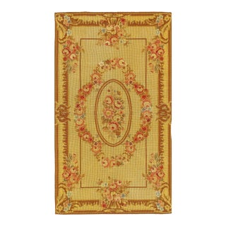 Pasargad Aubusson Needlepoint Rug - 3′ × 5′ For Sale