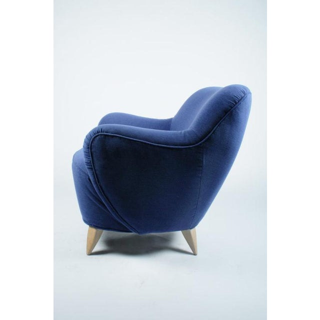 1970s Vladimir Kagan Barrel Lounge Chairs - a Pair For Sale - Image 5 of 7