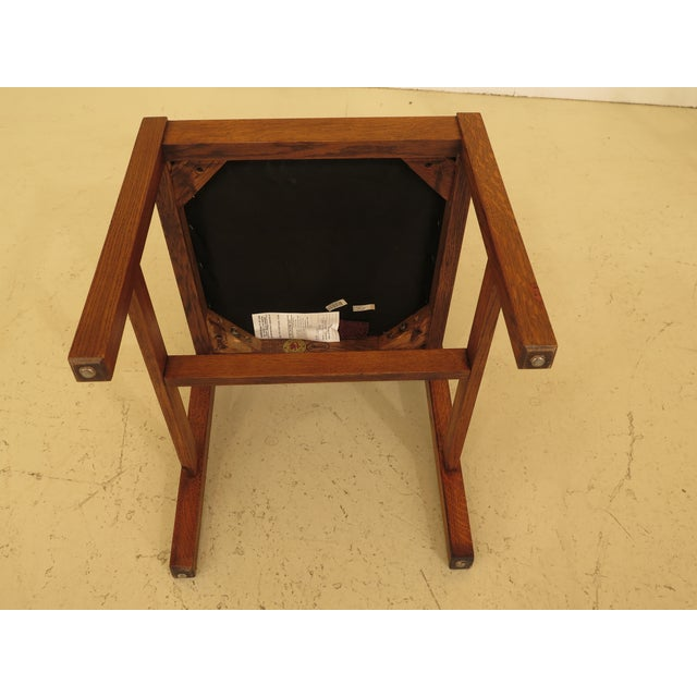 Stickley Mission Oak Dining Room Chairs - Set of 4 For Sale In Philadelphia - Image 6 of 13
