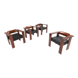 1970s Artona Armchairs by Afra & Tobia Scarpa for Maxalto - Set of 4 For Sale