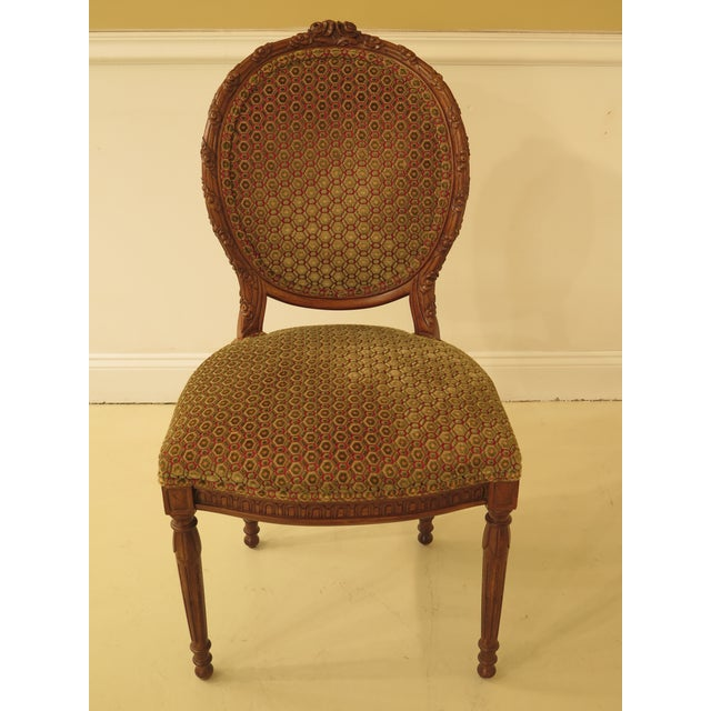 Item: 29784EC: Set Of 8 French Louis XV Carved Walnut Dining Room Chairs Age: Approx: 25 Years Old Details: Fine Carved...