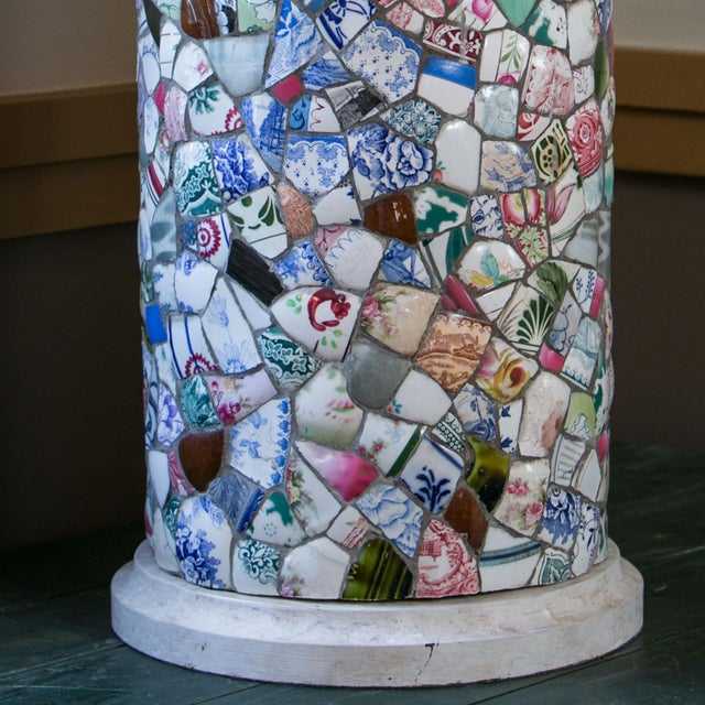 Arts & Crafts Tall Charming Mosaic Lamp For Sale - Image 3 of 6
