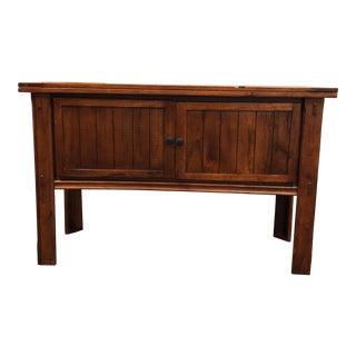 Craftsman Wood Storage Console