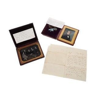 Antique Miniature Portrait by Henry Colton Shumway For Sale