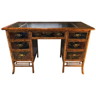 English Victorian Bamboo Writing Desk For Sale