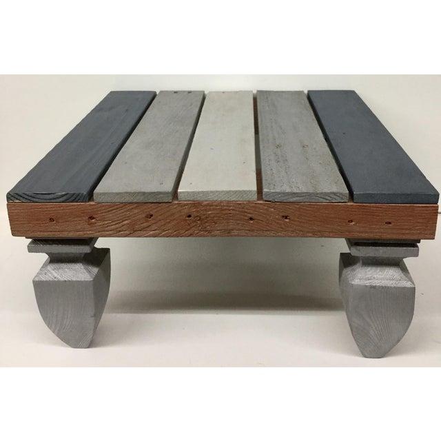Industrial Reclaimed Hardwood Meditation Table For Sale - Image 13 of 13