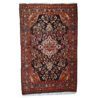 "1950s Vintage Handmade Persian Tabriz Rug - 4'4"" X 7'2"" For Sale"