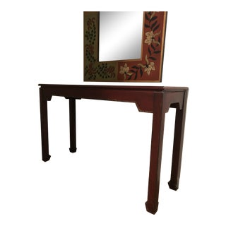 Asian-Inspired Console Table For Sale
