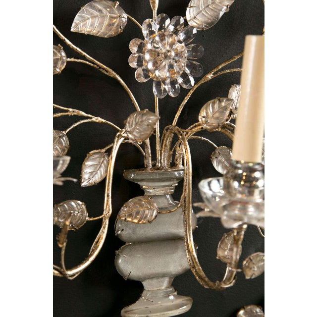 1930s 1930s French Silver Leaf Sconces - a Pair For Sale - Image 5 of 9