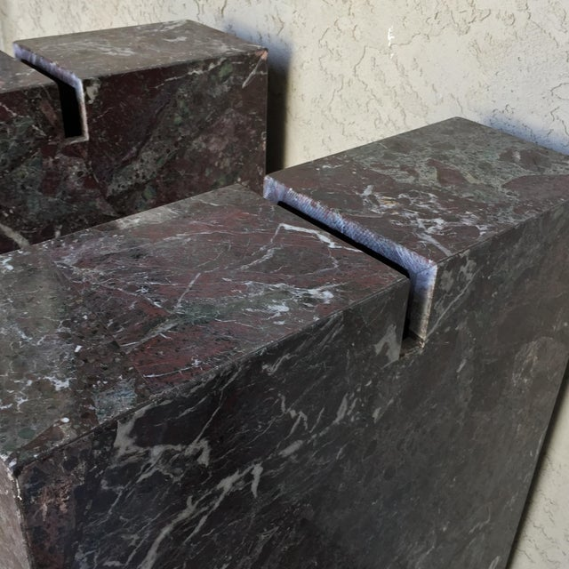 Italian Marble Dining Table Base - Image 5 of 11