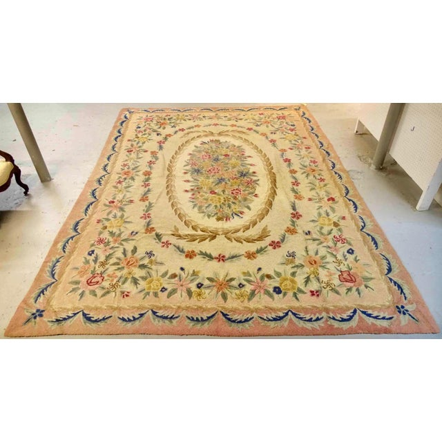 American Early 20th Century American Large Hooked Rug For Sale - Image 3 of 3