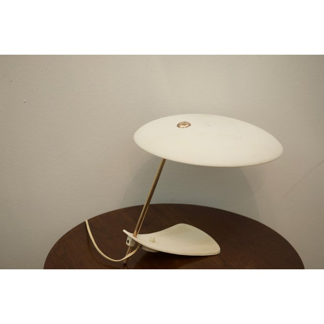 Mid-Century Brass & Steel Table Lamp For Sale - Image 4 of 8