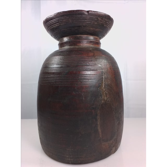 Primitive Hand-Carved Water Urn - Image 2 of 11