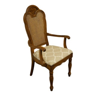 Thomasville Furniture Decorum Collection Cane Back Dining Arm Chair For Sale