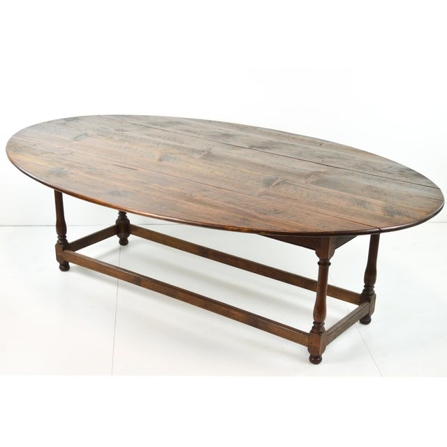 Antique Oval Drop Leaf Dining Table - Image 9 of 9