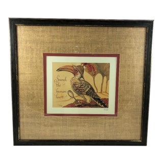 The Human Heart Offset Lithograph Artwork by Renowned Artist/Author Charles v. Sandwyk For Sale
