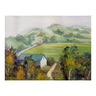English Pastoral Impressionist Painting