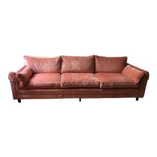 Pristine Vintage 1960s Pink Velvet Sofa