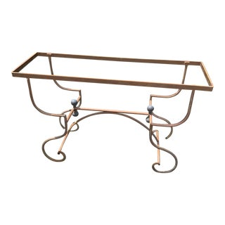 French Antique Iron and Brass Console Base For Sale