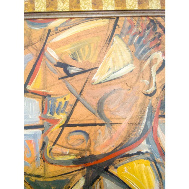 This portrait of Man and Woman is oil on board. A very impressive cubist depiction of a portrait of a young man and woman...