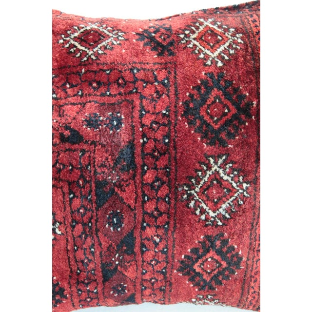 Turkish Vintage Carpet Cushion Cover For Sale - Image 4 of 7