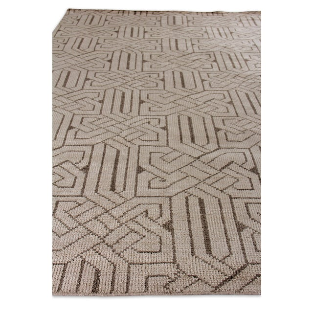 Cambrai Flatweave Wool Ivory/Gray Rug - 9'x12' For Sale - Image 4 of 7