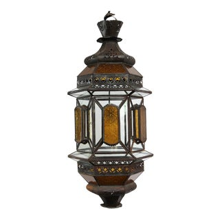 Moroccan Metal & Glass Lantern