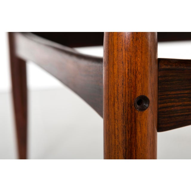 Kurt Ostervig Mid-Century Modern Rosewood Coffee Table For Sale In Chicago - Image 6 of 8
