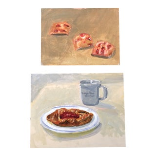 Gallery Wall Collection Contemporary Dessert Still Life Paintings - a Pair For Sale