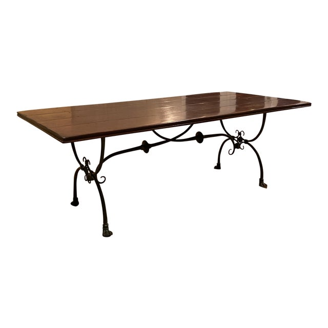 Farmhouse Theodore Alexander Dining Table For Sale